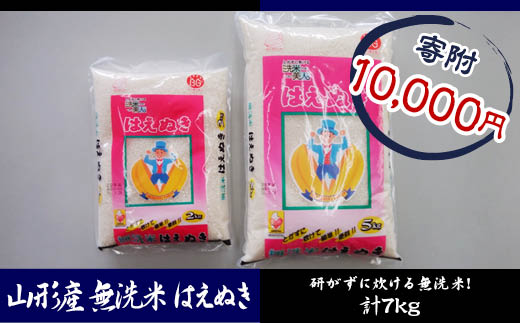FY18-580 H29年産 山形産 無洗米はえぬき7kg