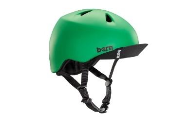(S-M 4歳~6歳)BERNのジュニア、キッズ用ヘルメット BOYS MATT GREEN