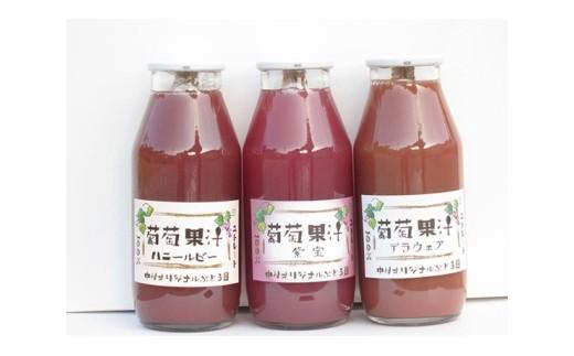 No.021 ぶどうジュース3種詰め合わせ(180ml×計17本)