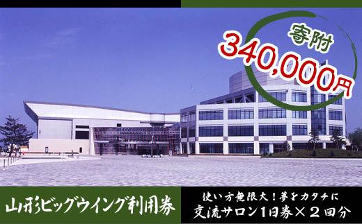 FY18-349 山形ビッグウイング利用券 (交流サロン1日券×2回分)