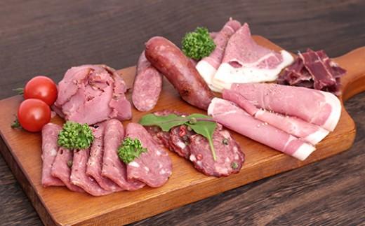 ジビエプレミアムセット(ロースハム・フランクフルト等、全て猪肉加工品)