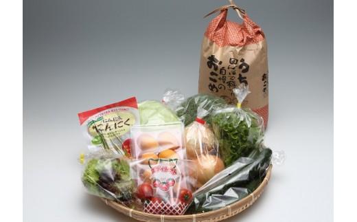 【B1-090】道の駅松浦海のふるさと館『旬のお野菜+お米5kg』の大満足セット!