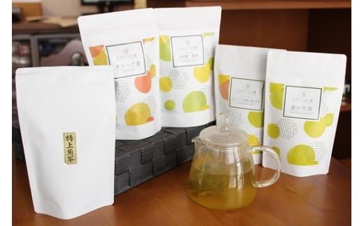 BD16-181  オリーブ茶・特上煎茶 Bセット