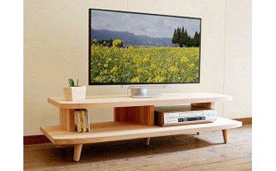 【開放感いっぱいの国産杉テレビ台】HANEテレビボード 130 国産杉