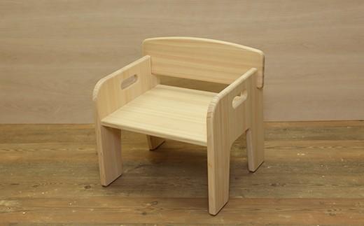 【家具職人手作り】国産ひのき使用キッズチェア  30-K861