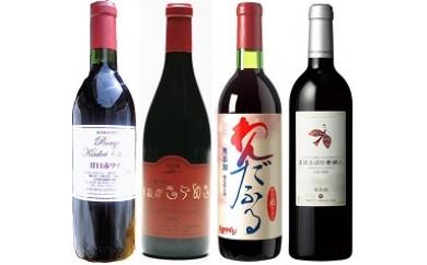 C094 山形赤甘口ワイン飲み比べ4本セット