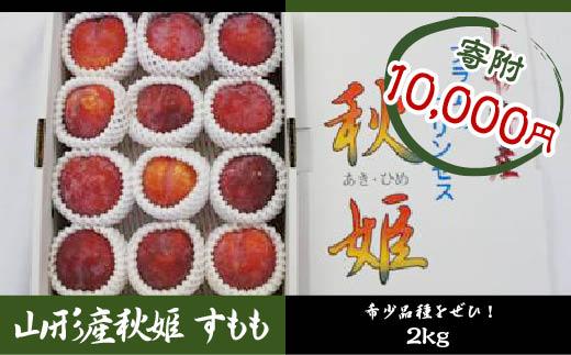 FY18-354 山形産 秋姫 (すもも) 約2kg 化粧箱入10~20玉