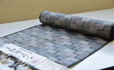 [№5535-0054]伝統工芸『本庄絣』反物  ピンクグレー