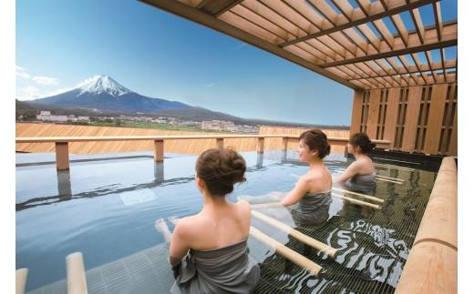 【富士山を望む高級宿】ホテル鐘山苑ペア宿泊券(1泊2食)