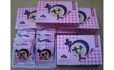 """紀州産南高梅と明太子のコラボ煎餅""""わせん""""【得々6箱セット】"""