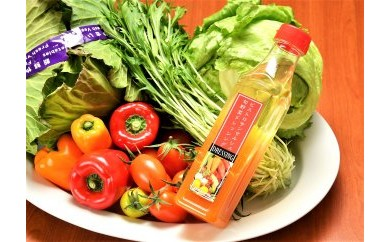 シェフの目線「採れたてサラダ野菜と玉ねぎドレッシング詰合せ」
