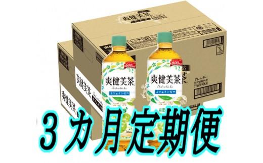 C-065 【3カ月定期便】爽健美茶600mlPET(2ケース×3回)