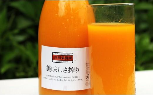 09-4無添加生搾り!果汁100%濃厚みかんジュース4本セット