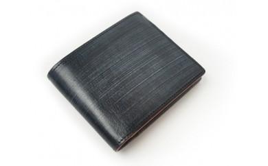 ブライドルレザー二つ折り短財布(ブラック)