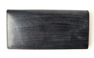 ブライドルレザー二つ折り長財布(ブラック)