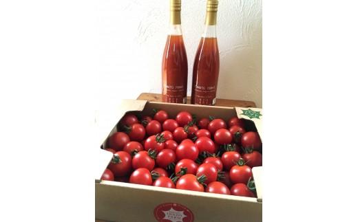 C101 有機イナゾートマト 2kgと有機トマトジュース 2本