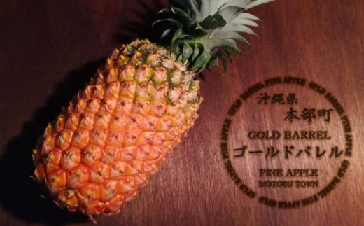 【もとぶかりゆしゴールド】本部町産ゴールドバレルパイン 2玉(約 4kg)