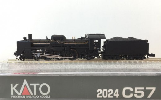 G-12Nゲージ[洗練されたスタイルを持つSL界の「貴婦人」 C57 1次形蒸気機関車展示セット]