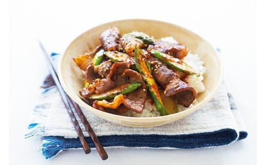 焼肉はもちろん、野菜と軽めに焼いた宮崎牛にお好みのタレを絡めて、あつあつの白ご飯に乗せて贅沢に「宮崎牛と焼き野菜の丼」にしても