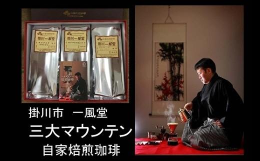 192 掛川一風堂厳選 三大マウンテンコーヒーセレクション 180g×3袋(ギフト箱入)