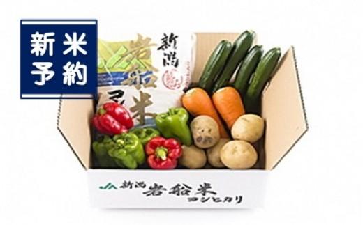 【新米予約】A118 岩船米コシヒカリと季節の野菜セット1