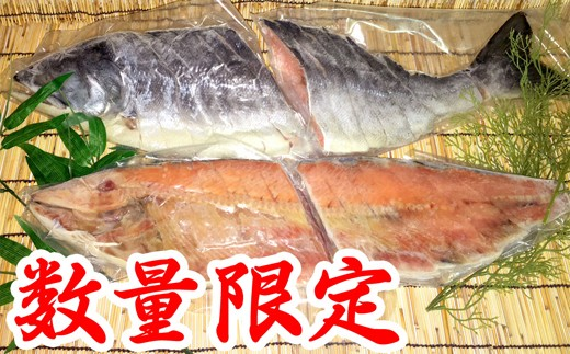 20-75 【数量限定】北海道オホーツク産鮭山漬け(切身4半身) 2.0kg~2.2kg