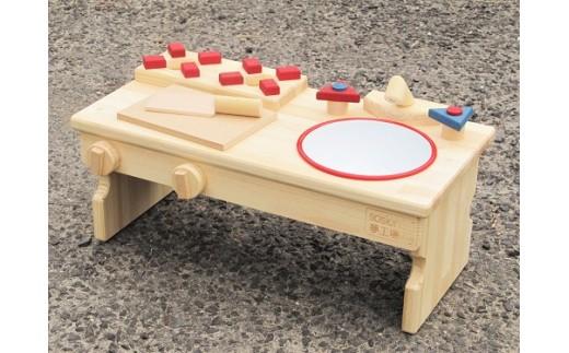 D-087 手作り木製 ままごとキッチンRHK-LX 座って遊べるテーブルサイズ