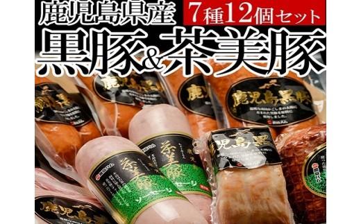 B-004 7種12個!鹿児島県産黒豚・茶美豚バラエティセット1 約2kg