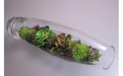 【空気をキレイにするお花】ガラスの中の植物 アートフラワー インテリア