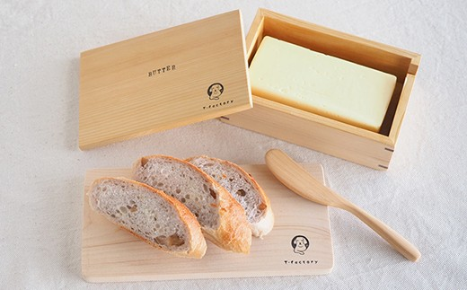 ◇青森ヒバ バターケース&カッティングボード&バターナイフ