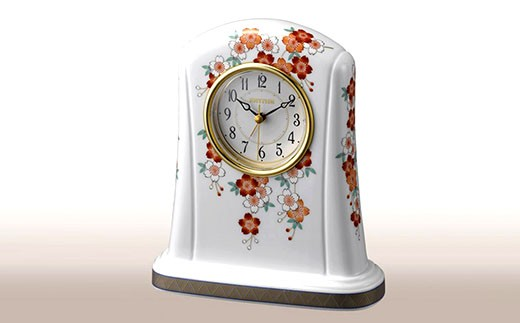 KR013 香蘭社 桜・クオーツ置時計
