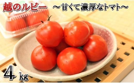 [A-1151] 「越のルビー」 4kg ~甘くて濃厚なトマトをお届けします~