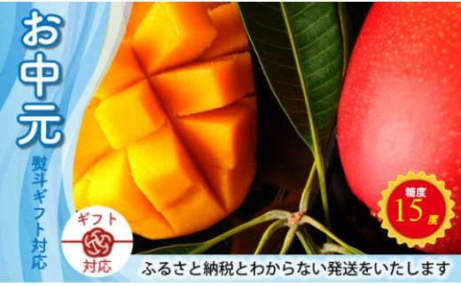 C-63-02 【お中元贈答用】マンゴーの最高級品<宮崎県産 太陽のタマゴ 2玉>【10,000pt】