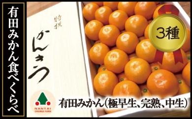 限定数50  有田みかん・食べくらべ3種(各約3kg)【南泰園】