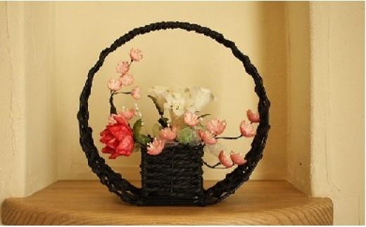 繭花(シルクフラワー)花かご