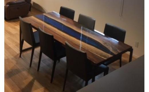 ※世界に一つだけのダイニングテーブル(青)