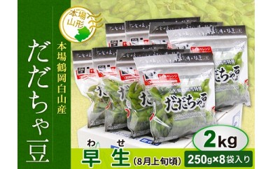 AT29 鶴岡白山産だだちゃ豆(早生)2kg
