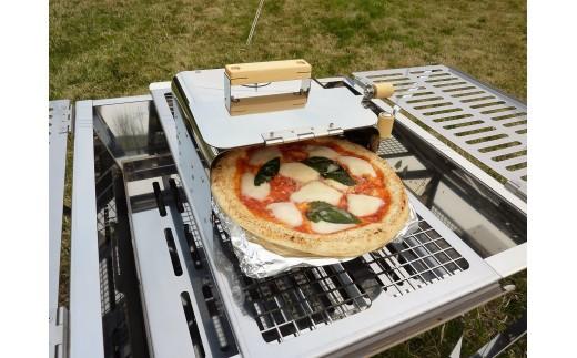 1818003 アールグレイ 『燻製・ピザ窯用ユニット』 + 『プロ大型BBQコンロ 囲炉裏Ⅰ』のセット