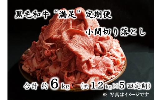 """【D01001】黒毛和牛""""満足""""定期便(小間切り落とし)"""