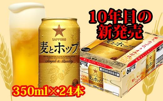 地元名取生産 麦とホップ 350ml 24缶(1ケース)