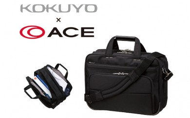 [№5809-0871]エース × コクヨ ビジネスバッグ PRONARD K-style 手提げタイプ 出張用 Mサイズ 黒 鞄