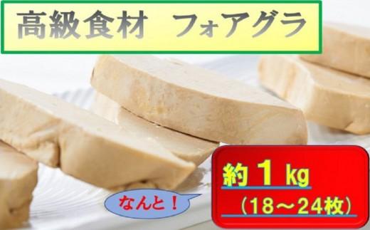 【J-007】フォアグラ(18~24枚)約1kg