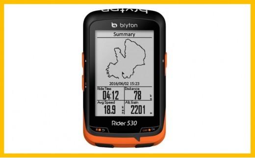 965 【サイクリスト応援品】Bryton Rider530(心拍・ケイデンス・スピードセンサー付き)