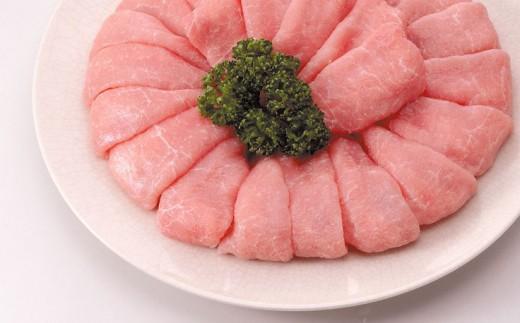 上州麦豚ロース肉1kg:しゃぶしゃぶ用【冷蔵で直送】A-23