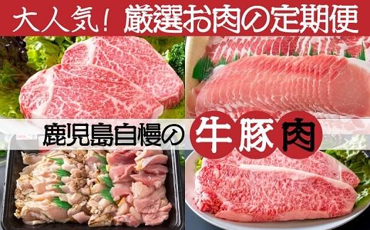 023-13 鹿児島自慢の牛豚肉!厳選のお肉定期便