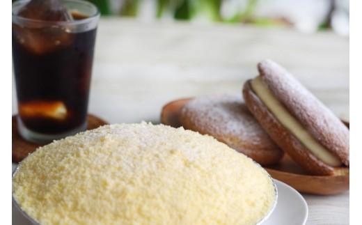 A-109 人気洋菓子店の生菓子セット<チーズケーキ「白白」1個、マサラ2個、生ブッセ3個>【2,500pt】