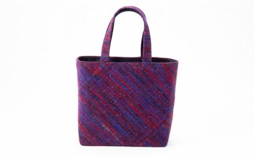 【№02402-0017】(1点もの) 伝統工芸品 南部裂き織 トートバッグ