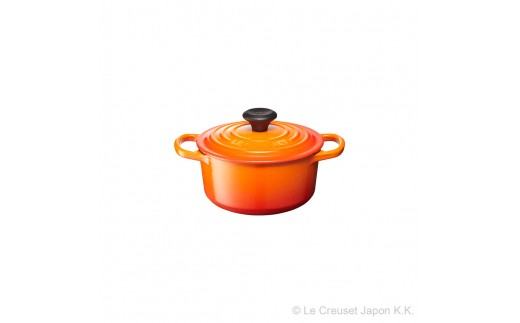 【R-34】Le Creuset ル・クルーゼ シグニチャーココット・ロンド 16cm (オレンジ)