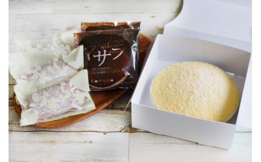 B-231 人気洋菓子店の生菓子セット<チーズケーキ「白白」2個、マサラ5個、生ブッセ5個>【5,000pt】
