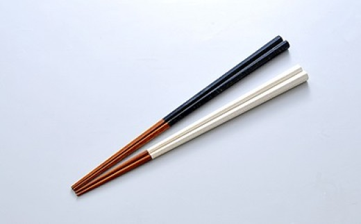 8A-01薩摩白箸・黒箸セット